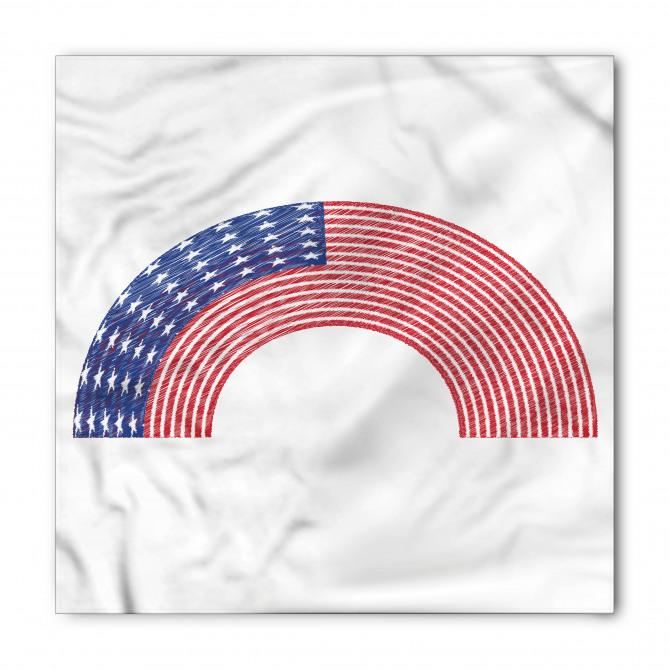 ABD Bayraklı Gökkuşağı Bandana Fular