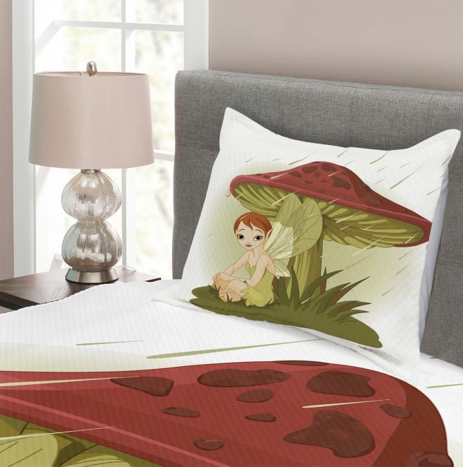 Rain Under Mushroom Bedspread Set