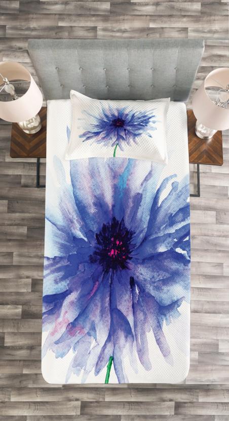 Earth Cornflower Bedspread Set