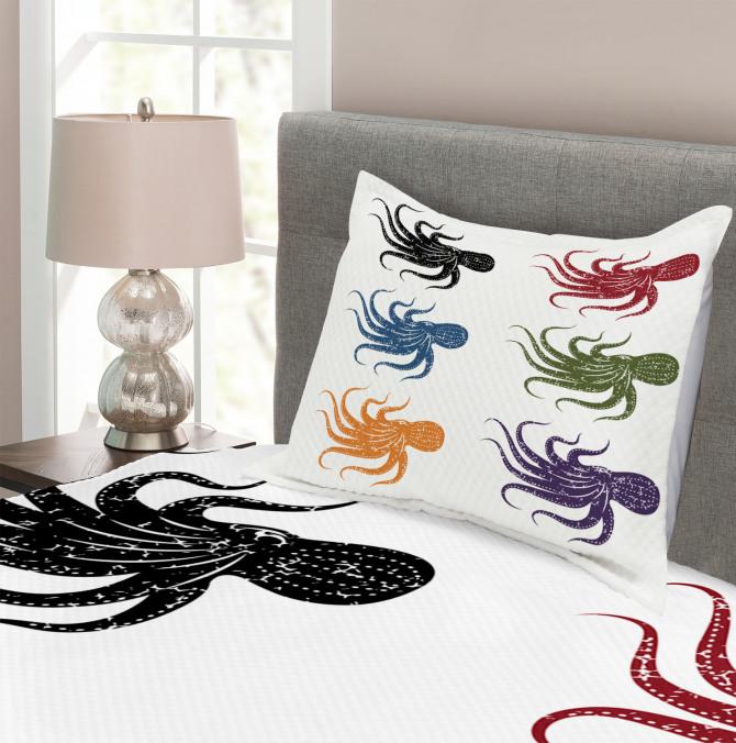 Grunge Underwater Life Bedspread Set