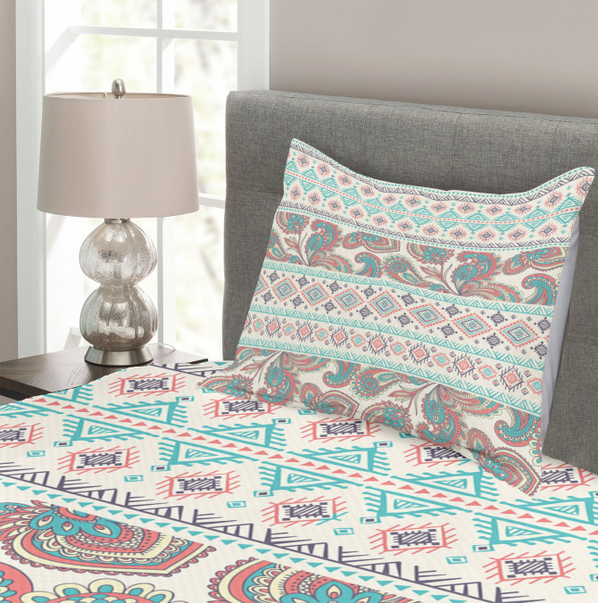 Floral Paisley and Aztec Bedspread Set