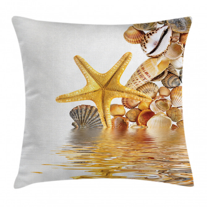 Sea Shells and Starfish Pillow Cover
