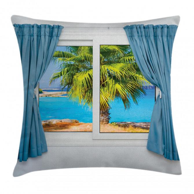 Tropical Beach Sun Pillow Cover
