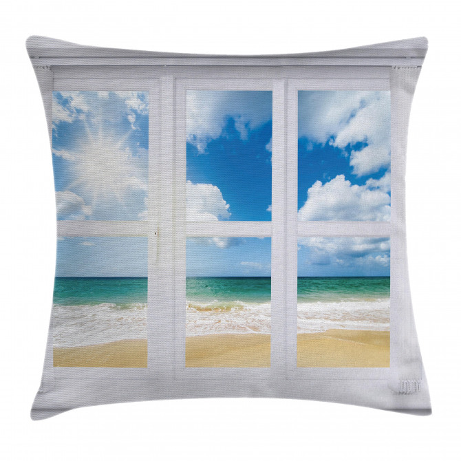 Ocean View Vivid Sun Pillow Cover