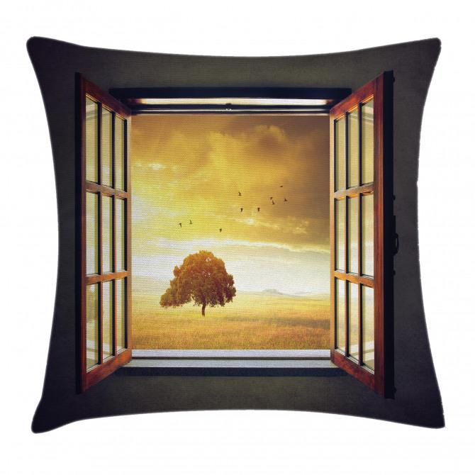 Spring Birds Country Pillow Cover