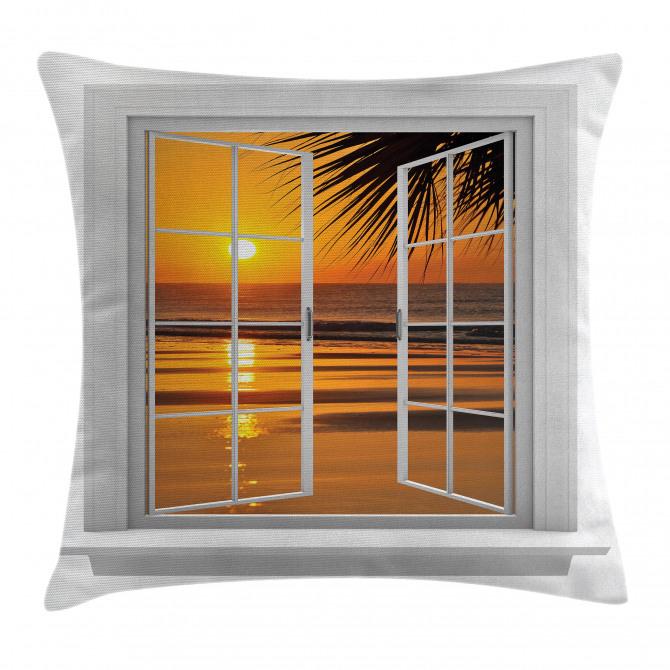 Ocean Sunset View Sky Pillow Cover