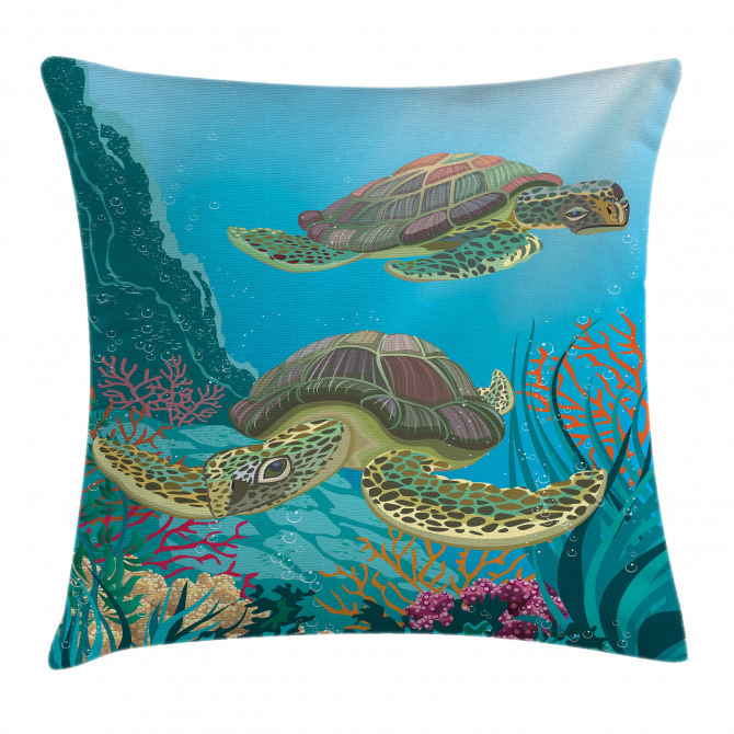 Sealife Turtles Aquatic Pillow Cover