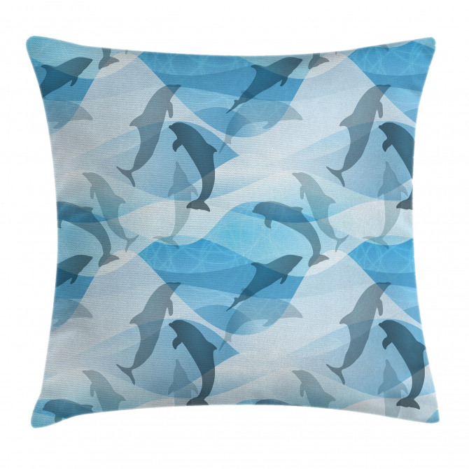 Underwater Fish Pattern Pillow Cover