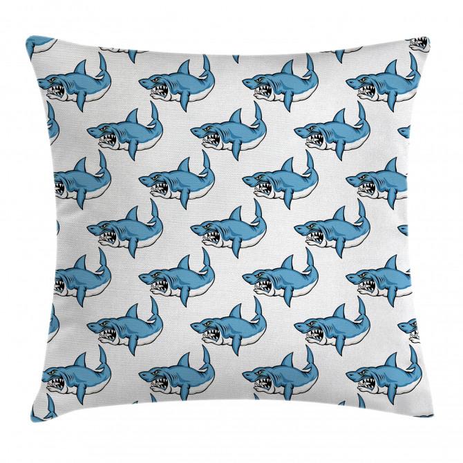 Sea Fierce Wild Shark Pillow Cover