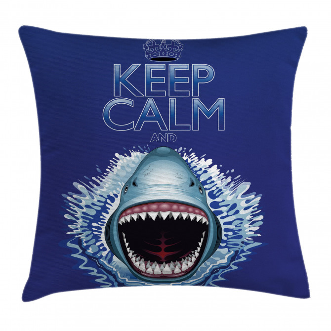 Wild Shark Hunter Pillow Cover