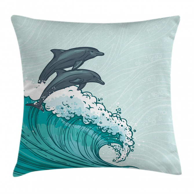 Sea Waves Sketch Art Pillow Cover