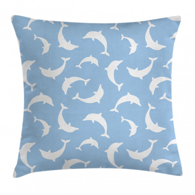 Pattern with Dolphins Pillow Cover