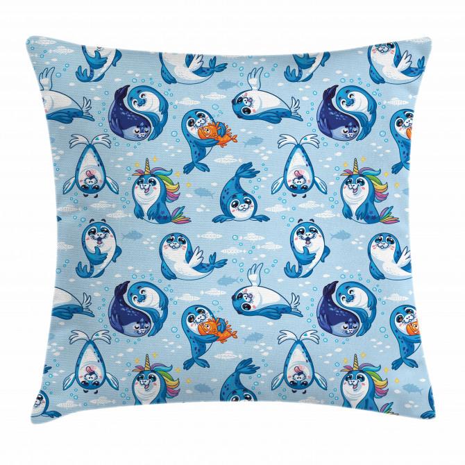 Cartoon Friendly Seal Pillow Cover