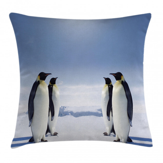 Penguins in Antarctica Pillow Cover