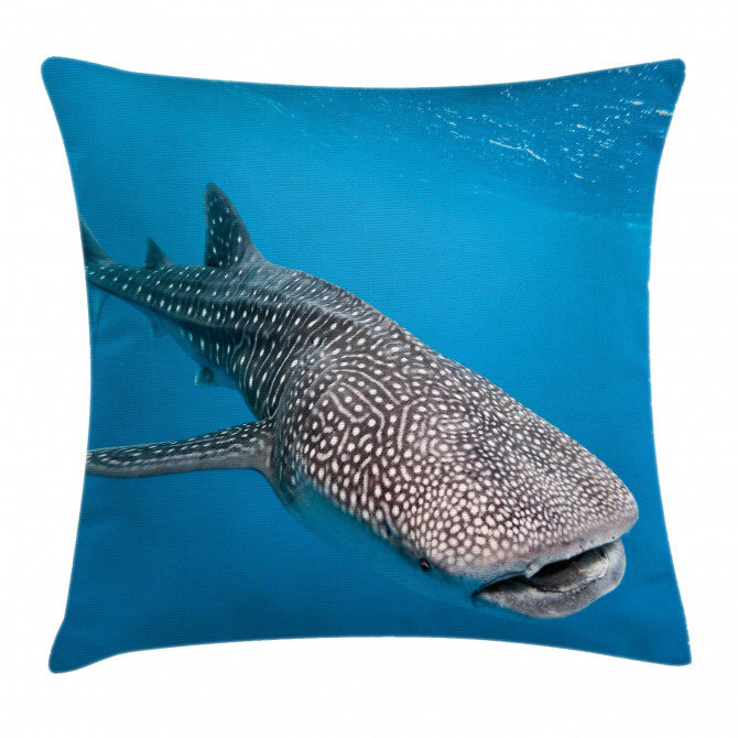 Swimming Whale Sea Pillow Cover