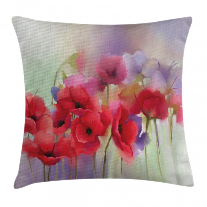 Spring Flowers Romantic Pillow Cover