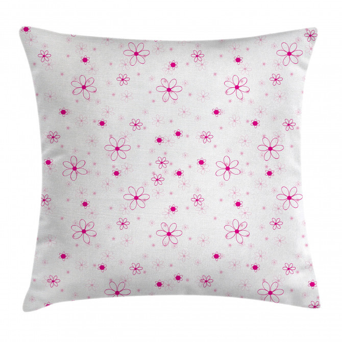 Pattern with Flowers Pillow Cover