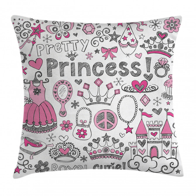 Fairy Tale Princess Tiara Pillow Cover