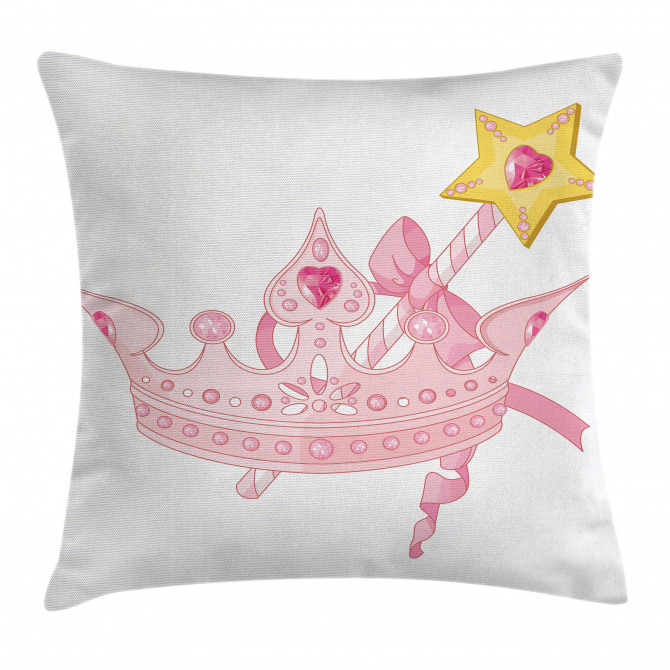 Crown and Magic Wand Pillow Cover