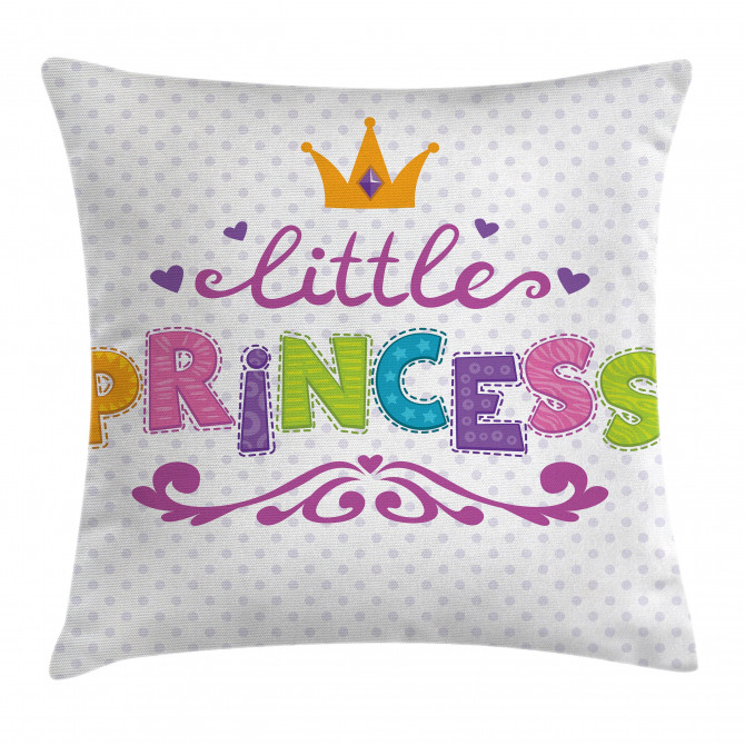 Little Princess Quote Pillow Cover