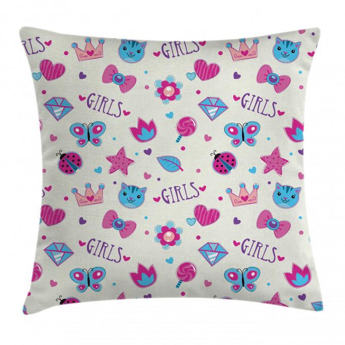 Bowtie Ladybird Cat Fun Pillow Cover