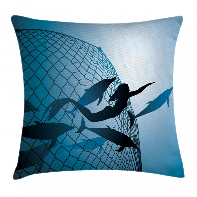 Flight of Dolphins Pillow Cover