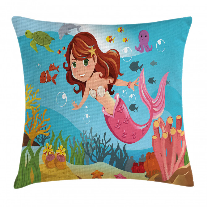 Cheerful Underwater Pillow Cover