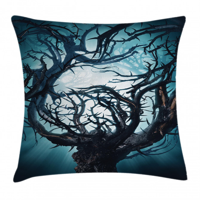 Night Big Mystic Tree Pillow Cover