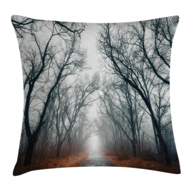 Autumn Sky and Leaves Pillow Cover