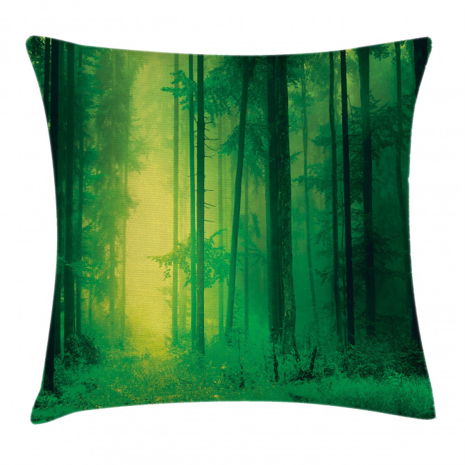 Fairy Springtime Forest Pillow Cover