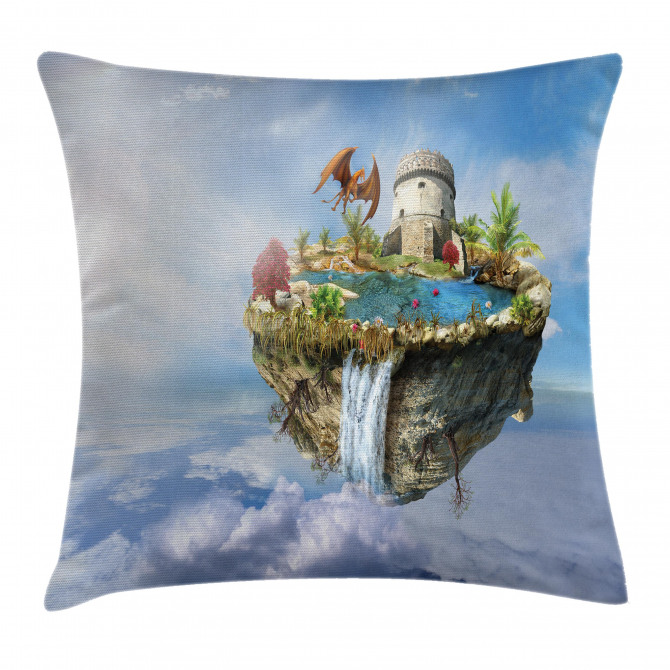 Dragon Castle Tower Pillow Cover