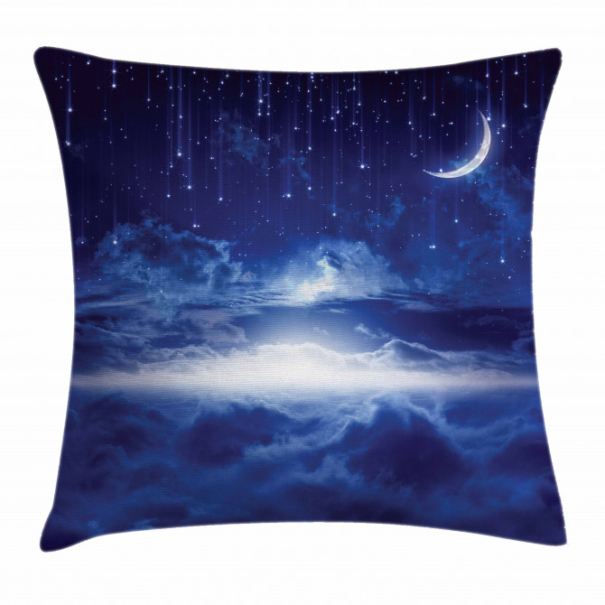 Night Sky Moon Stars Pillow Cover