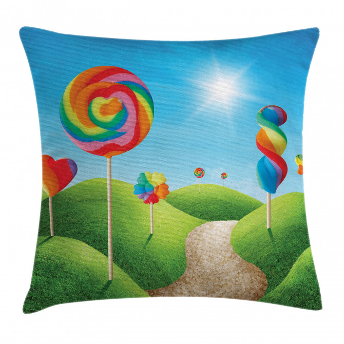 Candy Land Lollipops Pillow Cover