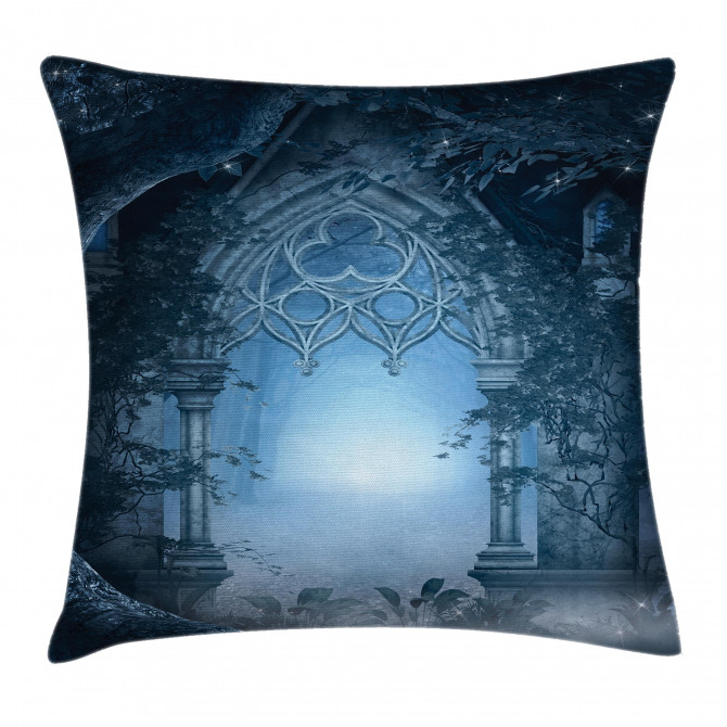 Foggy Magical Palace Pillow Cover