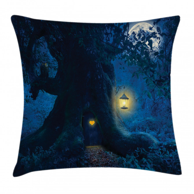 Ancient Tree in Woods Pillow Cover