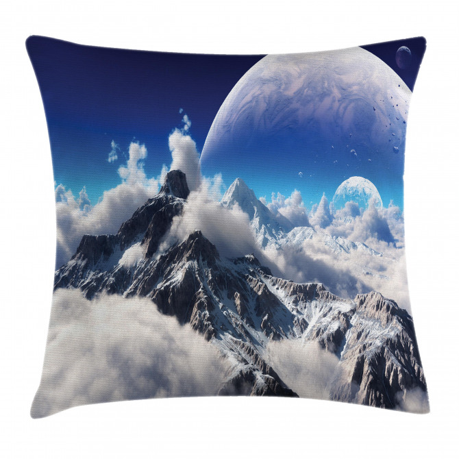 Snow Capped Mountain Pillow Cover