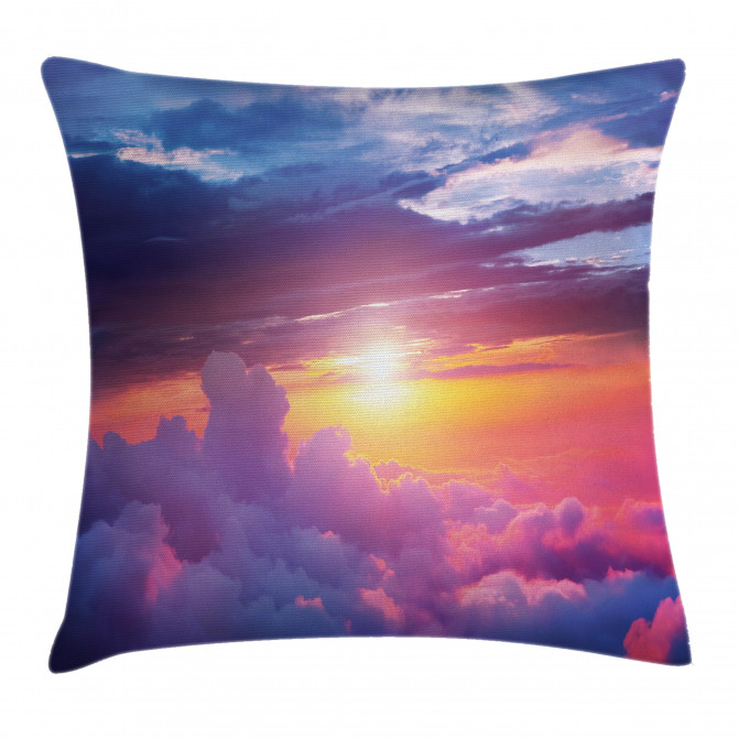 Sunset Sky and Clouds Pillow Cover