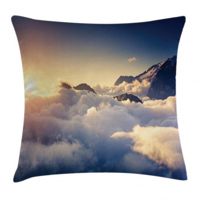 Climbing Above Clouds Pillow Cover
