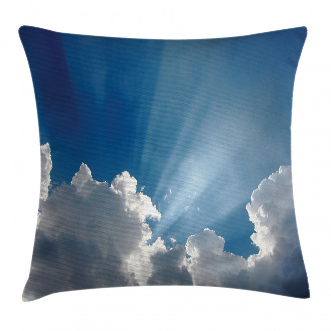 Sky Clouds Sun Rays Pillow Cover