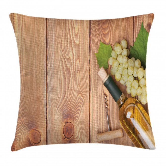 White Grapes Bottle Pillow Cover