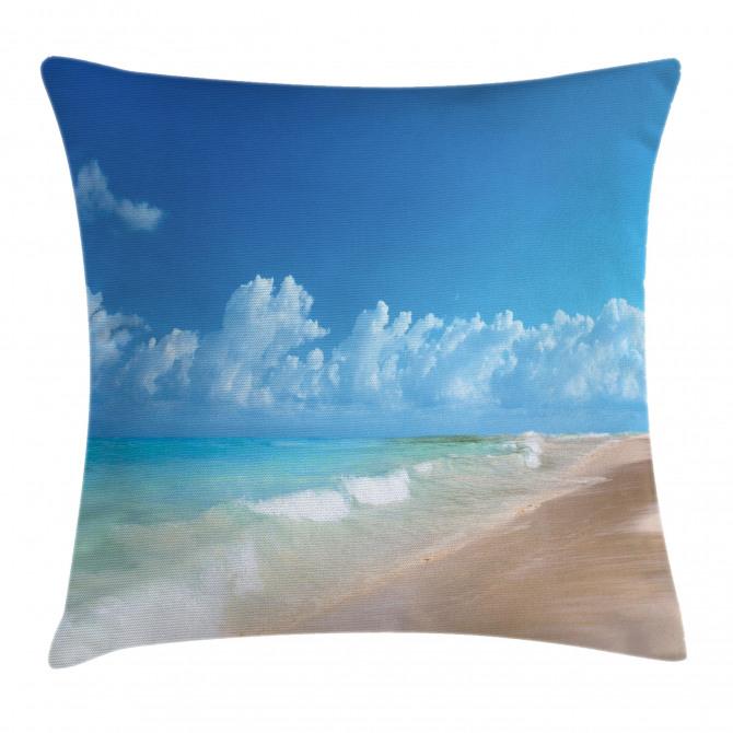 Tropical Ocean Waves Pillow Cover