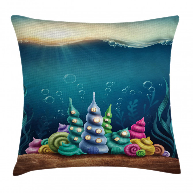 Shell Houses Bubbles Pillow Cover