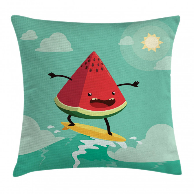 Watermelon on the Waves Pillow Cover