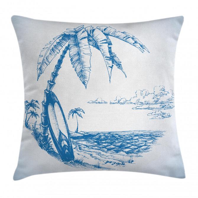 Surf Hawaiian Beach Pillow Cover
