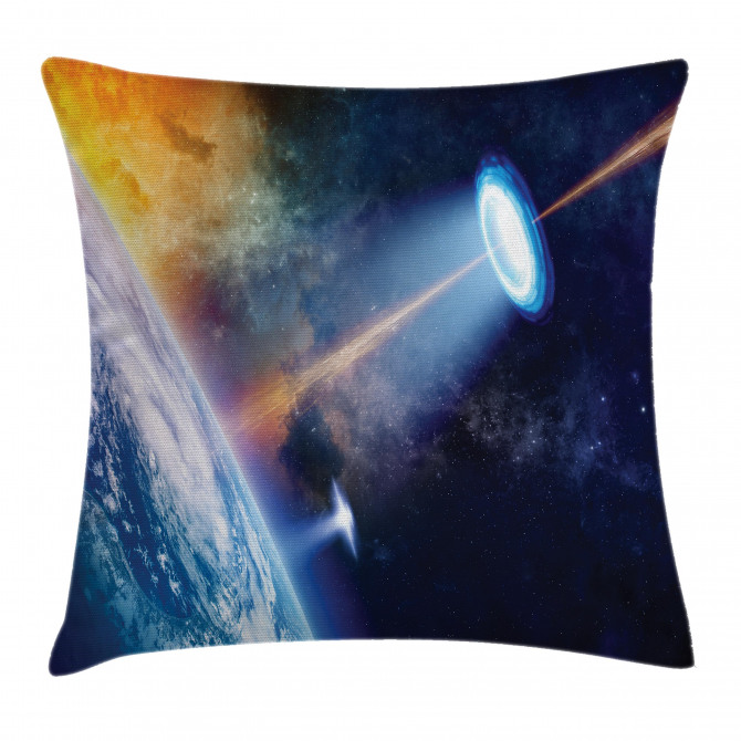 UFO on Earth Sci-Fi Pillow Cover