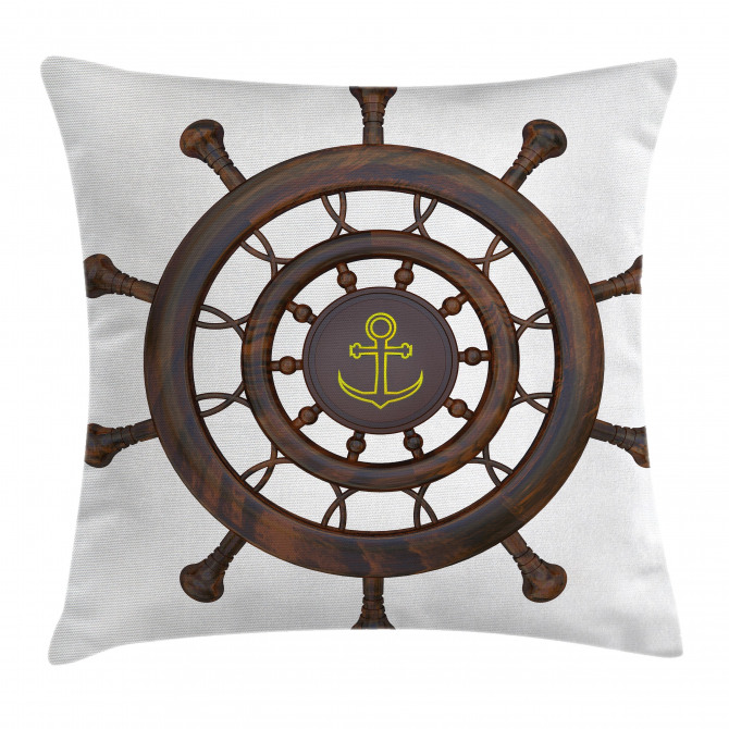 Wooden Steering Wheel Pillow Cover