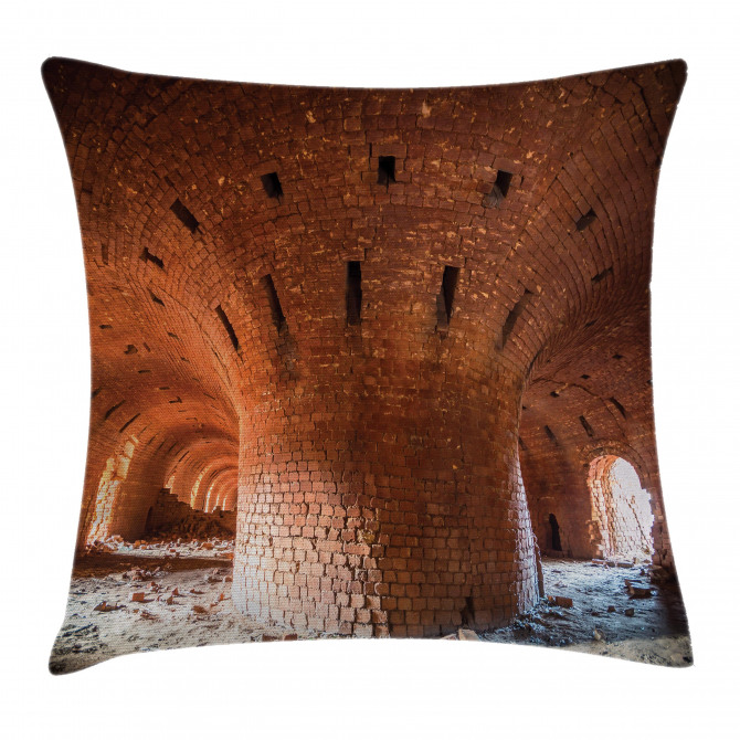 Old Brick Factory Wall Pillow Cover