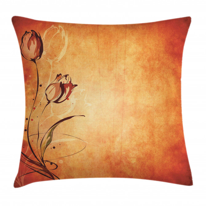 Vintage Style Rose Bloom Pillow Cover