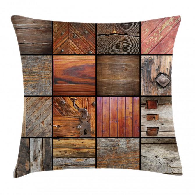 Wooden Timber Door Key Pillow Cover