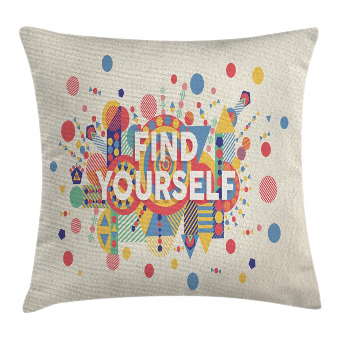 Typographical Poster Pillow Cover